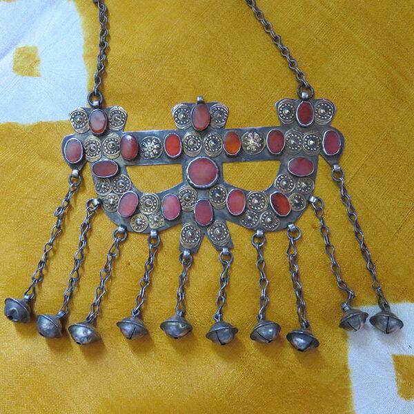 Turkmenistan - Turkmen Yomud silver boys amulet OK YAY