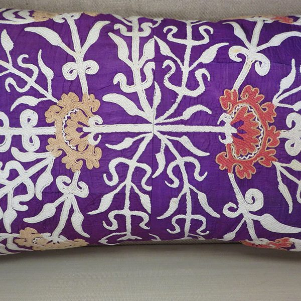 Tajikistan antique silk embroidered pillow cover