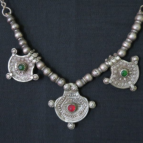 Afghanistan Kuchi tribal silver necklace