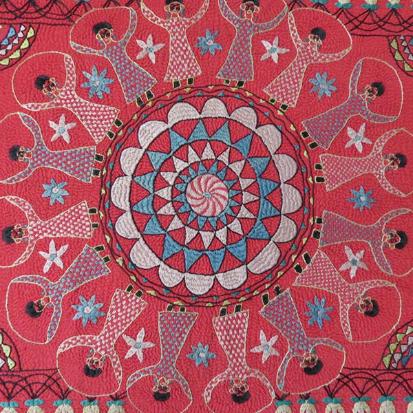 India West Bengal Kantha quilted silk embroidery | TurkishFolkArt : quilted silk - Adamdwight.com