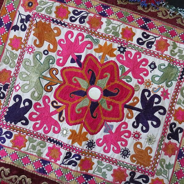 Afghanistan Yusufzai Pathan tribal floss silk embroidery