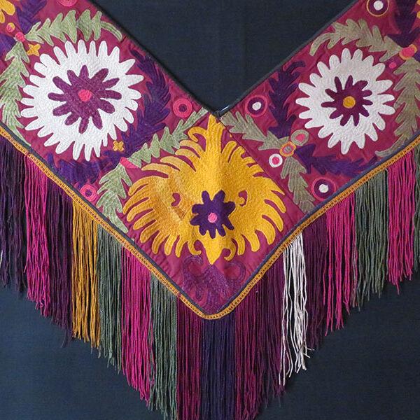 Afghanistan - Lakai Sagusha ethnic fine silk embroidery hanging