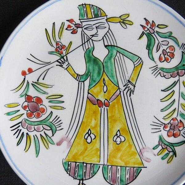 Anatolian - Iznik Adil Can glazed ceramic plate