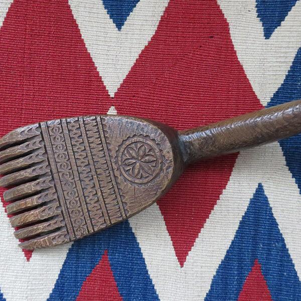 Anatolian Konya Turkmen tribal wooden kilim weaving comb