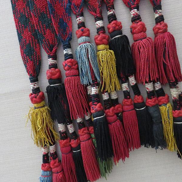 Uzbekistan Lakai wool and silk braided tassels