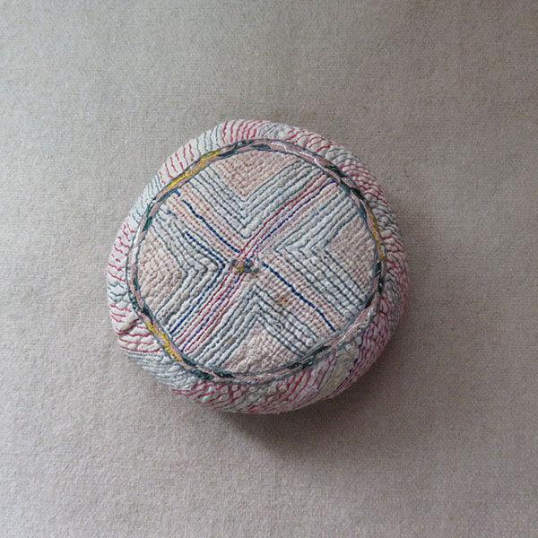 Turkmenistan - Tribal antique child embroidery skullcap