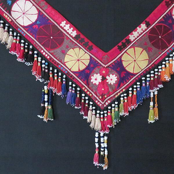 "Afghanistan - Lakai ""V"" shape silk bedding and wall decoration – Sagusha"