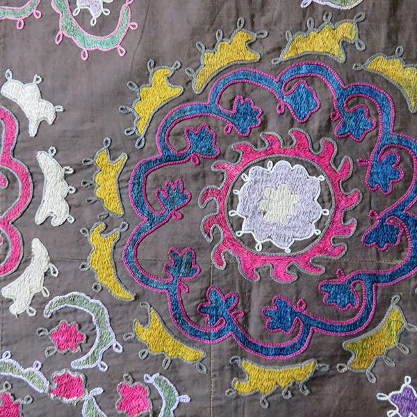 Uzbekistan Surkhandarya nomadic silk suzani