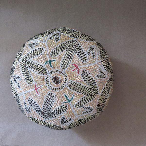 Afghanistan Shinwary tribal metallic – cotton embroidery hat