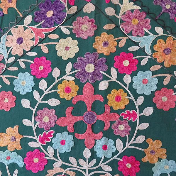 Tajikistan Tribal silk embroidery, wall hanging Suzani