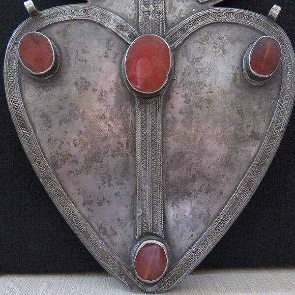 Turkmenistan – Turkmen Yomud tribal antique silver ASYK pendant