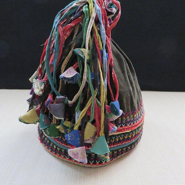 Western Nepal - Magar tribal group child velvet rice hat
