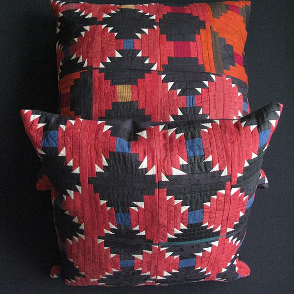 Tajikistan - Ethnic vintage pair of pillow covers