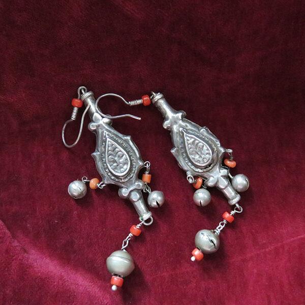 Uzbekistan – Khorezm – Khiva ethnic silver earrings