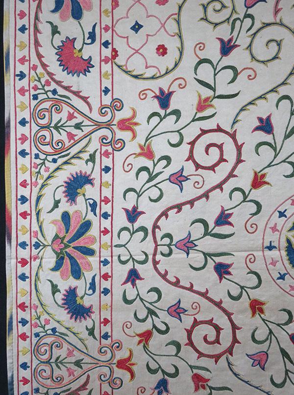 Uzbekistan Fargana Valley ethnic Silk Suzani