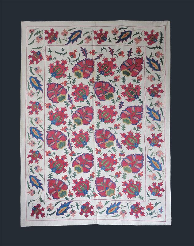 Uzbekistan - Tashkent ethnic silk embroidered Suzani