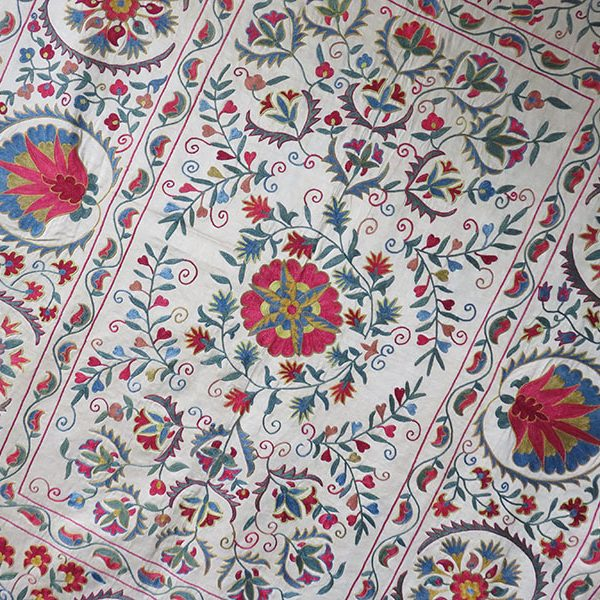 Uzbekistan - Fargana Valley ethnic silk embroidered Suzani