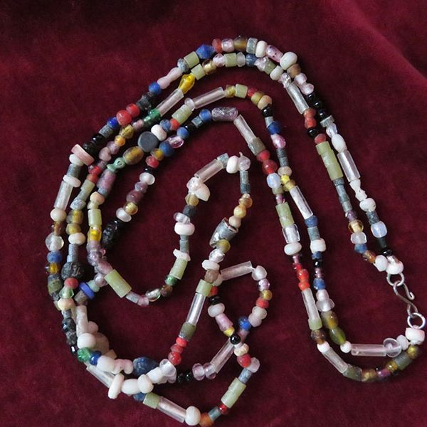 Afghanistan - Indus Valley antique glass beaded necklace