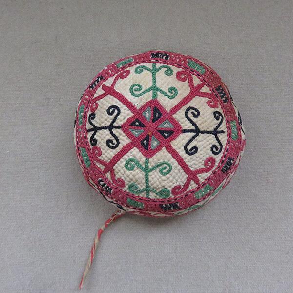 Afghanistan Turkmen tribal child silk embroidered hat