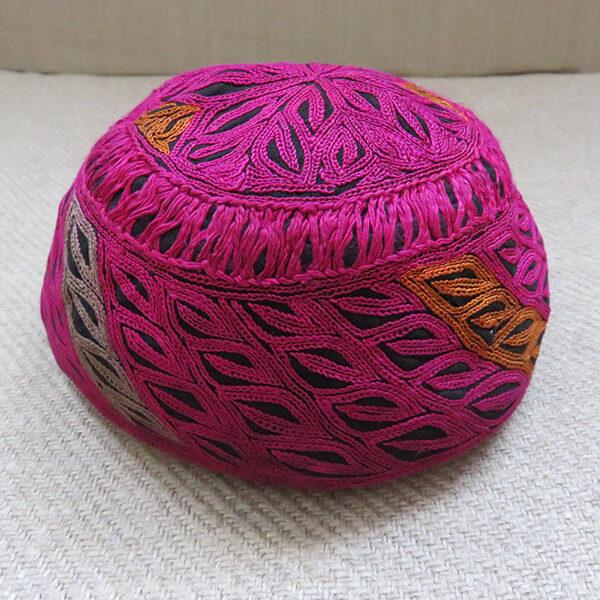 Pakistan Swat Valley - Ethnic silk embroidered hat