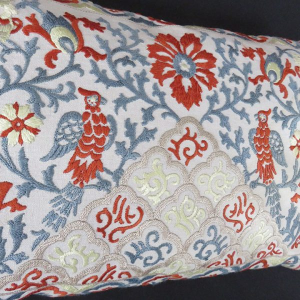 India - Pakistan vintage silk embroidered pillow cover