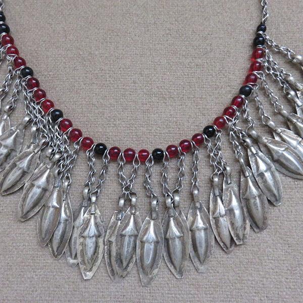 Afghanistan - ethnic Turkmen silver necklace