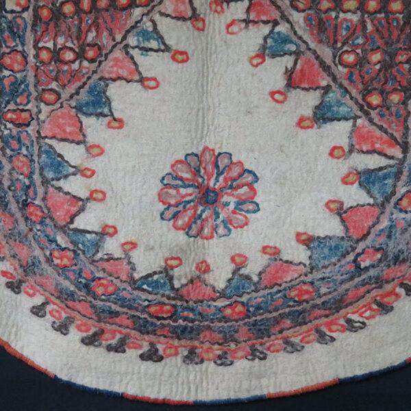 Turkmenistan - Yomud tribal felt saddle cover