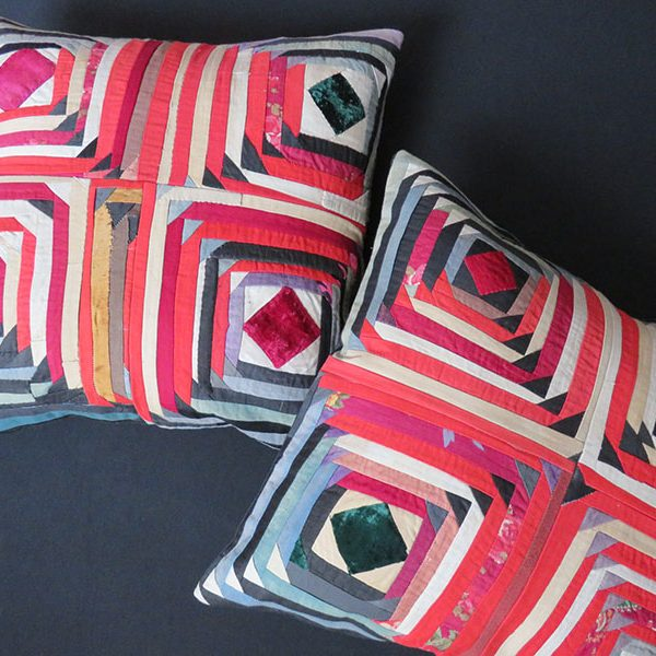 TAJIKISTAN ethnic pair of vintage cotton pillow covers