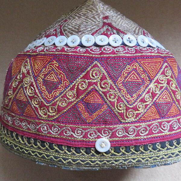 Afghanistan Ersary Turkmen helmet shape tribal hat