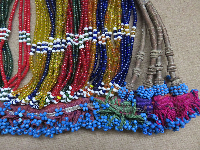North Afghanistan Pashtun tribal glass beaded hair decoration