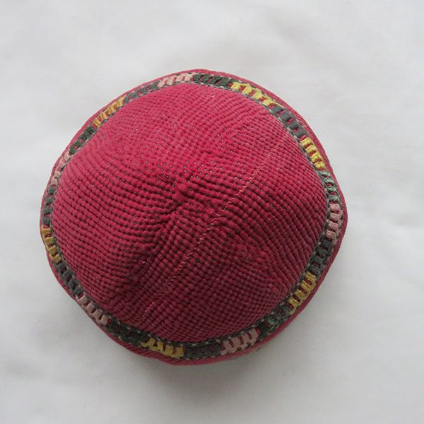 Central Asia – Afghanistan Turkmen Chodor silk and wool tribal hat