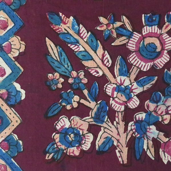 Anatolia - Tokat hand printed and painted cotton textile/scarf