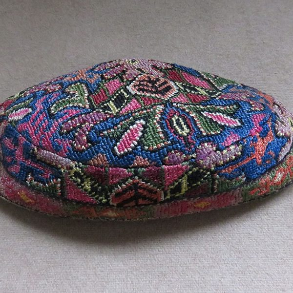 Uzbekistan Bokhara ethnic silk embroidered hat