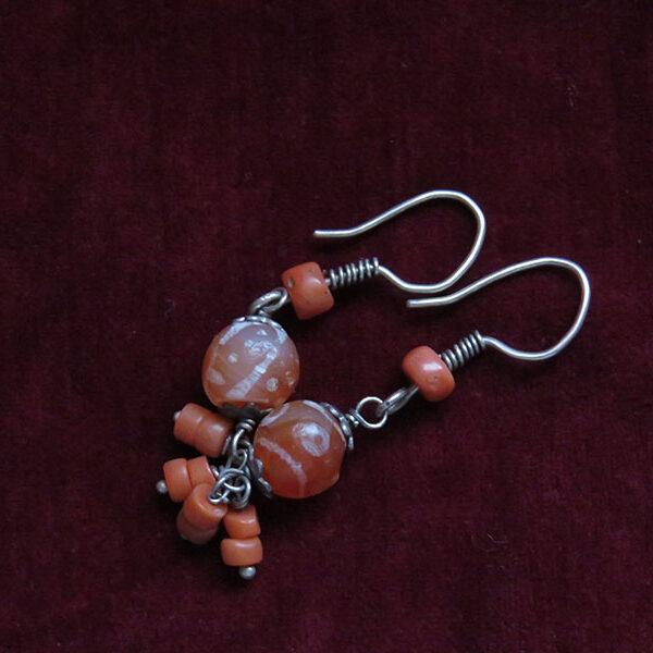 Afghanistan - Indus Valley antique stone earrings