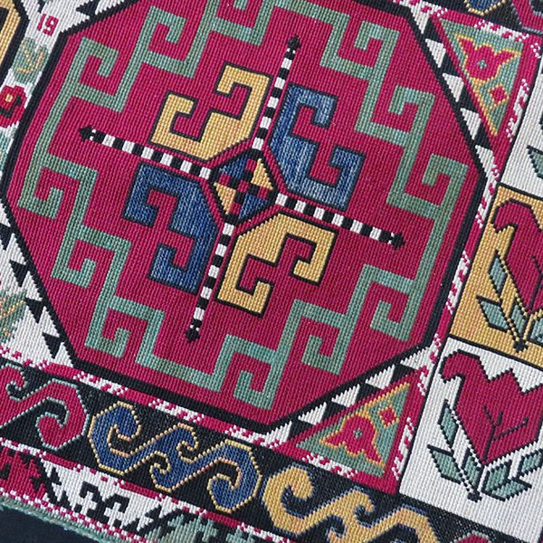 Tajikistan - Lakai silk embroidery bedding bag face