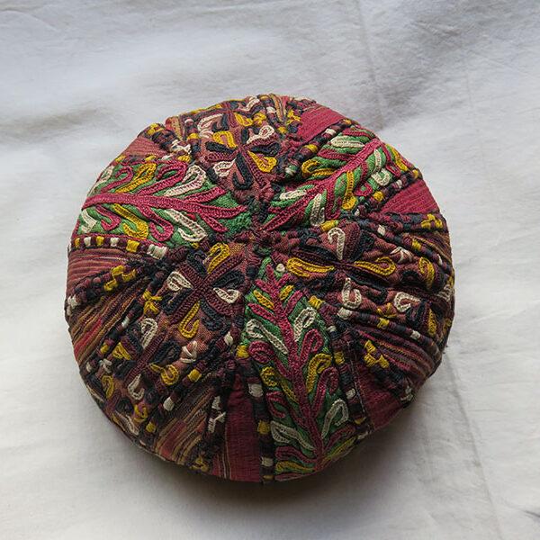 Turkmenistan Tekke tribal silk ceremonial hat