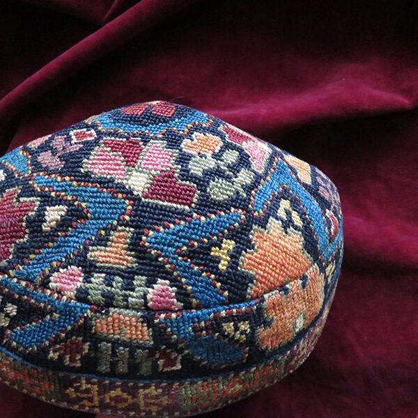 Uzbekistan - Bokhara Silk IROQI embroidered ethnic hat