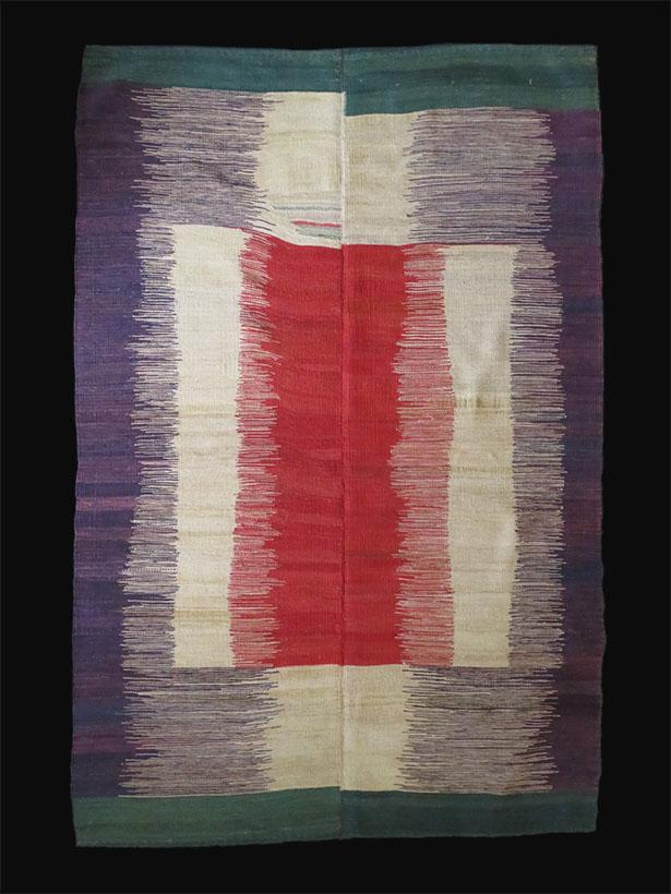 Mazenderan Tribal two pieces woven all wool kilim