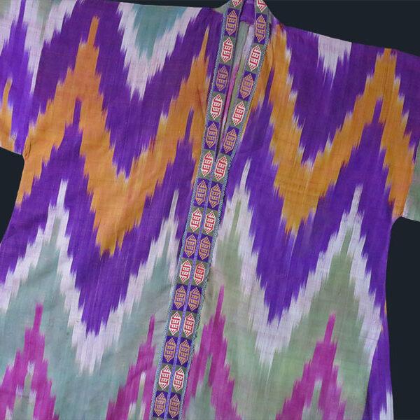 Uzbekistan - Koynek - Kuylak, antique silk ikat dress