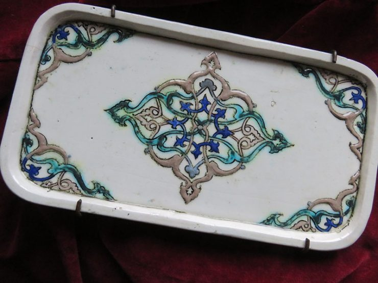 Anatolian - Kutahya Quartz antique ceramic mini tray