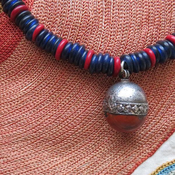 India - Nagaland tribal glass beaded necklace
