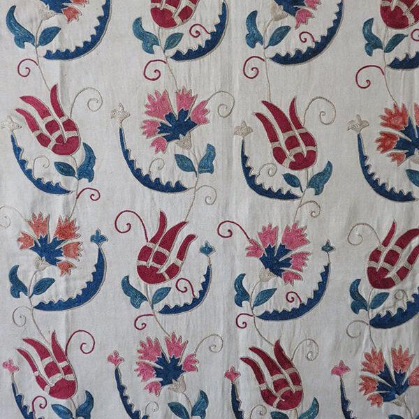 Uzbekistan - Tashkent silk embroidered ethnic Suzani