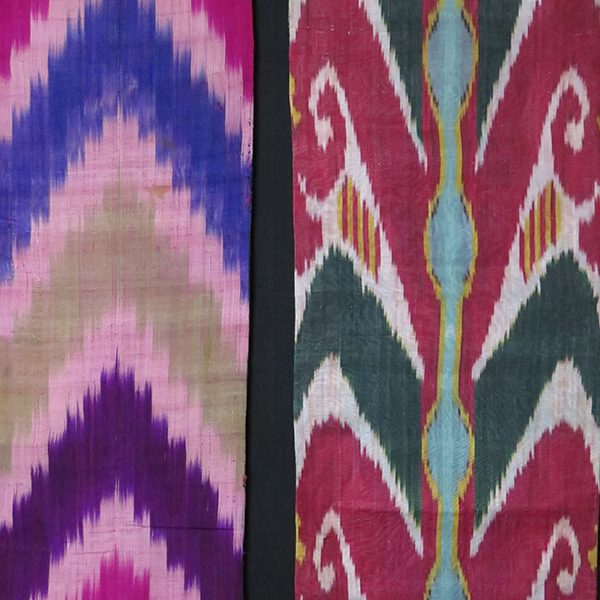 Uzbekistan – antique Silk Adras ikat panels