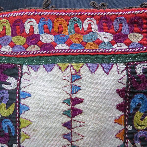 Iran - Turkmensahra - Tribal silk embroidery bag