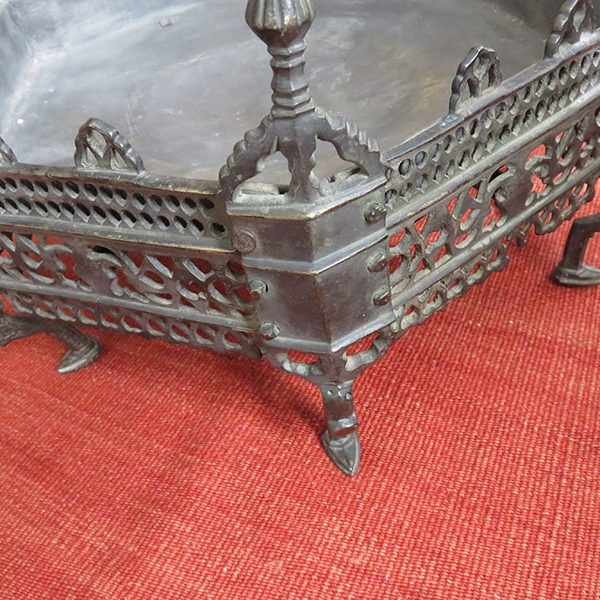 Anatolia - Bursa Antique Ottoman octagonal cast bronze brazier