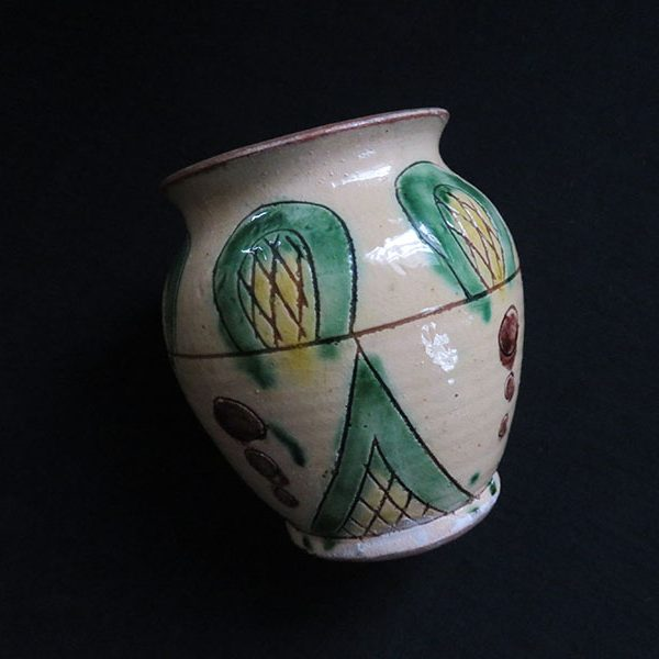 Greece clay glazed ceramic vase - pot