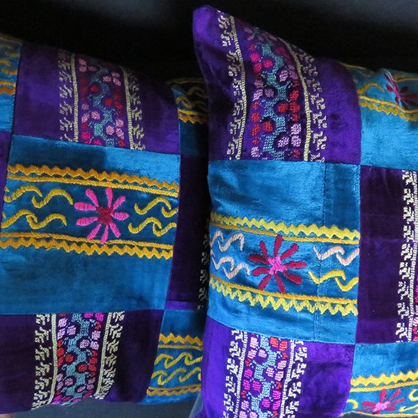 Tajikistan Lakai tribal silk embroidery velvet pillow covers