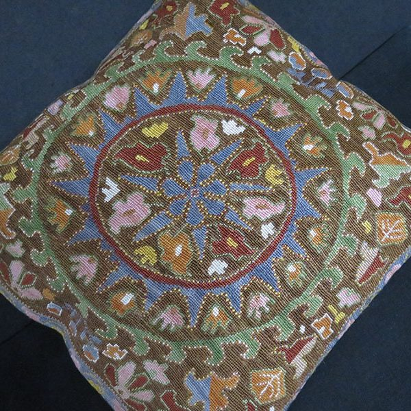 Uzbekistan - Shehrisabz LAKAI silk embroidered pillow cover