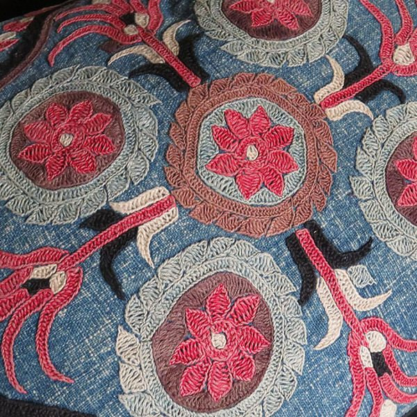 Central Asia - Kirgiz tribal embroidered pillow cover