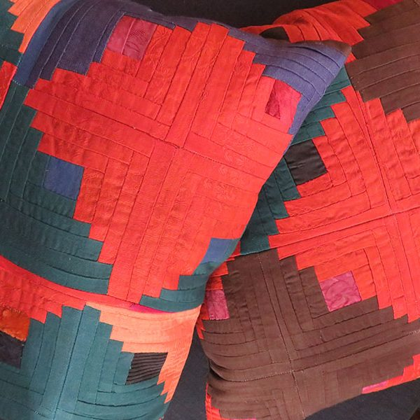 Tajikistan - Tribal vintage patchwork pillow covers